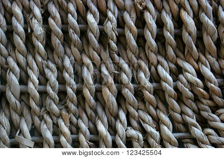 Basket weave texture background close up pattern