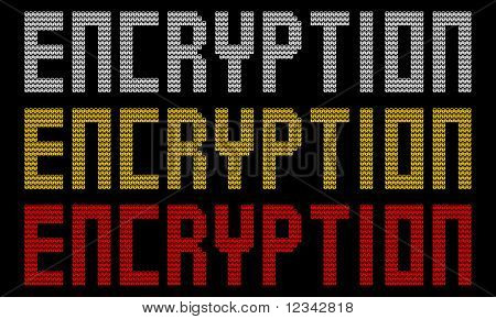 encryption text with padlocks illustration