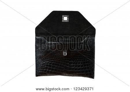 Exotic back leather alligator bag for Pad hide skin
