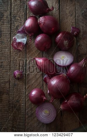 fresh garlic bulbs on a black background. garlic on black background.