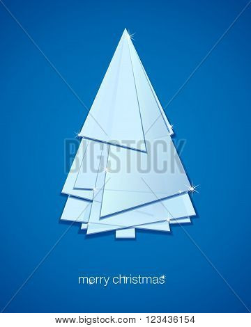 Abstract Christmas tree. Vector illustration winter background.