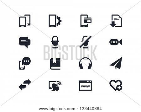 Communication  and smartphone icons. Lyra series