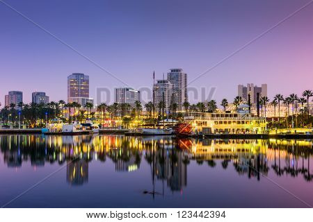 Long Beach, California, USA skyline.