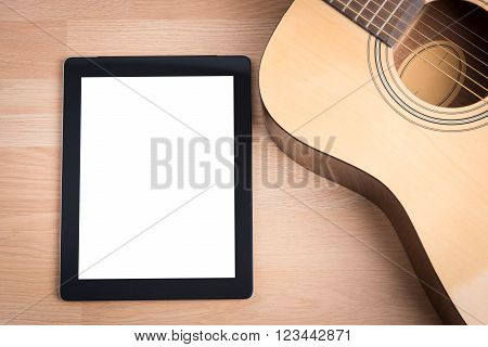 Acoustic Guitar With Digital Tablet