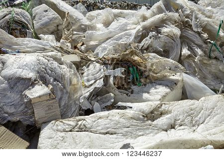 Industrial factory plastic waste refuse scrap recycling