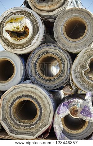 Industrial packaging plastic rolls waste recycling disposal industry