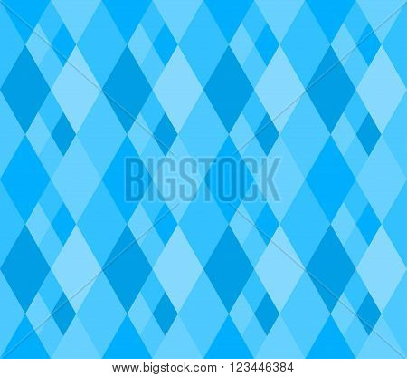 Abstract seamless texture with blue rhombs. Patterns on the marine theme