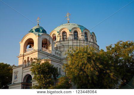 Crimea. Evpatoria Cathedral of St. Nicholas. Orthodox temple