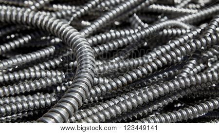 Scrap metal electrical conduit for recycling steel and aluminum