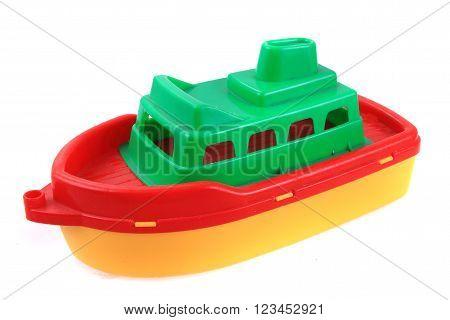Color Plastic Ship Toy