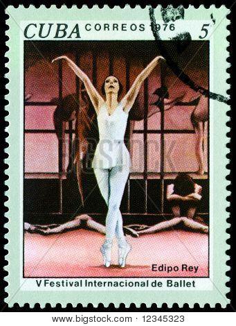 Vintage  Postage Stamp.  Oedipus Rex.