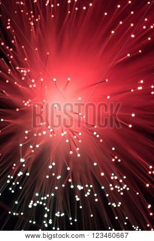 Bokeh from defocused lights from a fiber optic lamp