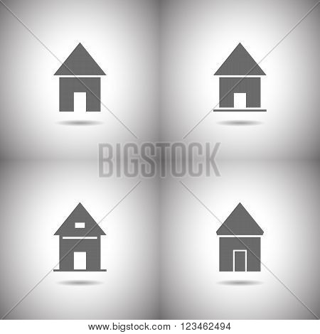 Set of abstract icons - lodges and houses