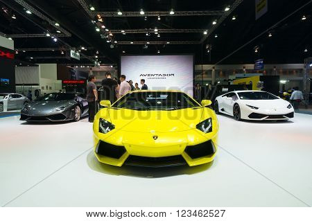 Nonthaburi - March 23: Lamborghini Aventador On Display At The 37Th Bangkok International Motor Show