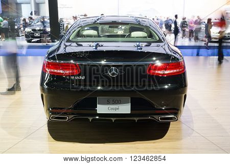 NONTHABURI - MARCH 23:NEW Mercedes Benz Gls S500 Coupe AMG on display at The 37th Bangkok International Motor show on MARCH 23, 2016 in Nonthaburi, Thailand.
