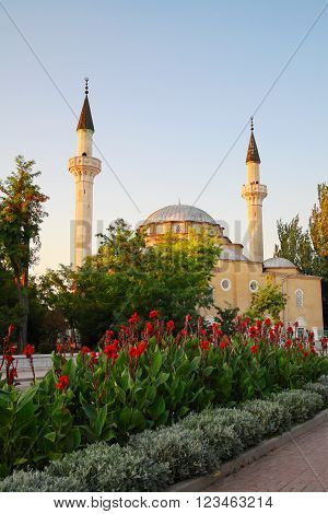 Crimea. Evpatoria, Juma-Jami Mosque (Jami Khan) Devlet Giray Khan founded in 1552
