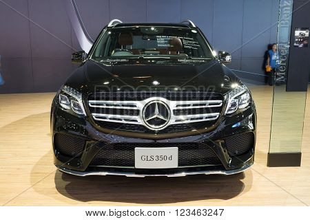 Nonthaburi - March 23:new Mercedes Benz Gls 350D Amg Premium On Display At The 37Th Bangkok Internat