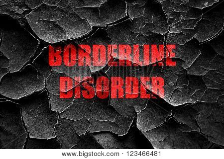 Grunge cracked Borderline sign background with some soft smooth lines