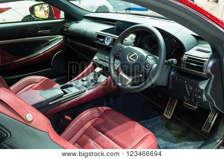 Nonthaburi - March 23: Interior Design Of New Lexus Rc 200T On Display At The 37Th Bangkok Internati
