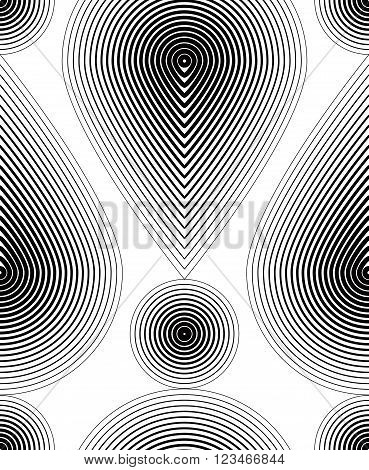 Black and white vector ornamental pattern seamless art background decorated with monochrome lines best for graphic and web design. Geometric ornate decoration.