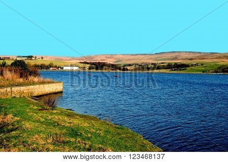 Hollingworth lake Rochdale in Lancashire, England, UK
