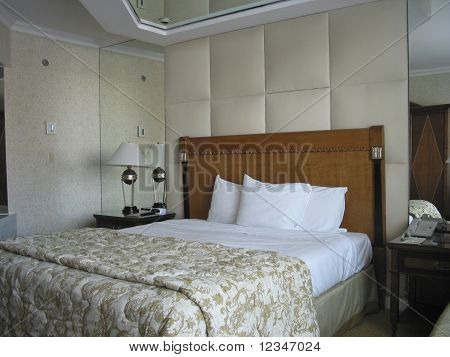 Room With King-size Bed And On Ceiling Mirror