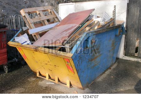 A Skip Full Of Rubbish