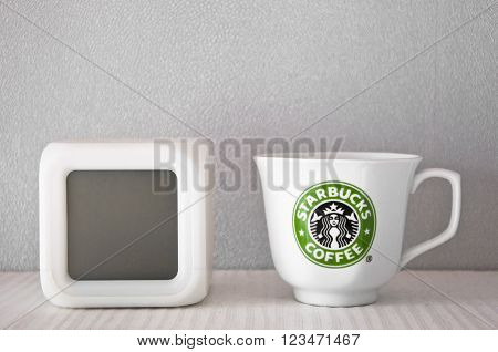 Starbucks Cup And Clock