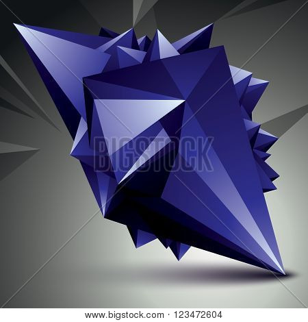 Abstract Asymmetric Vector Bright Object Constructed From Different Elements, Complicated Geometric