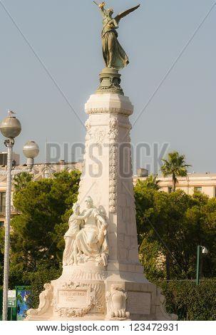 La Ville de Nice angel statue in Nice France