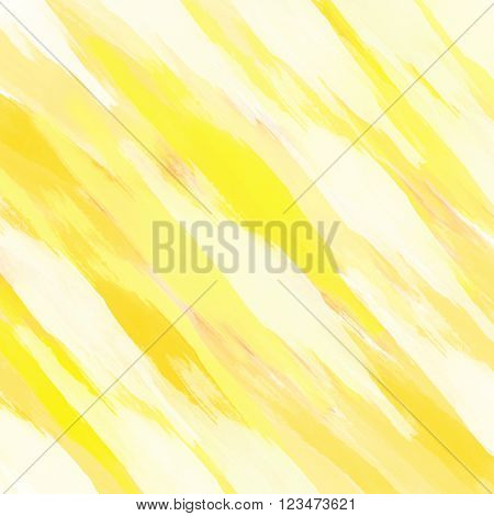 Digital diagonal painted background in white and yellow
