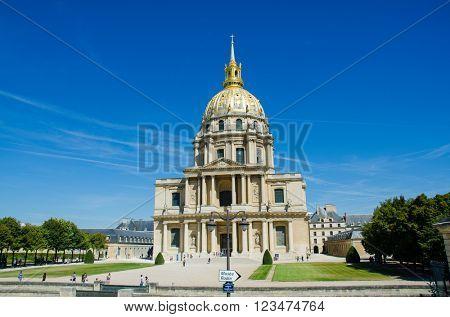 Paris - SEPTEMBER 15, 2012: Les Invalides House on September 15