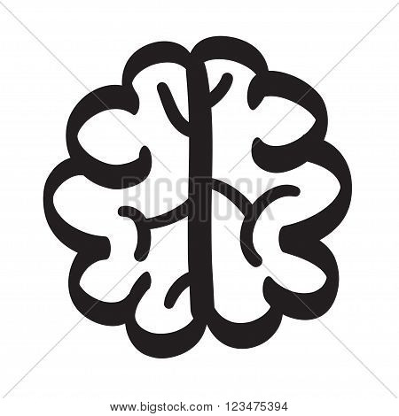 Hand Drawn Brain Set Vector Icon Illustration .