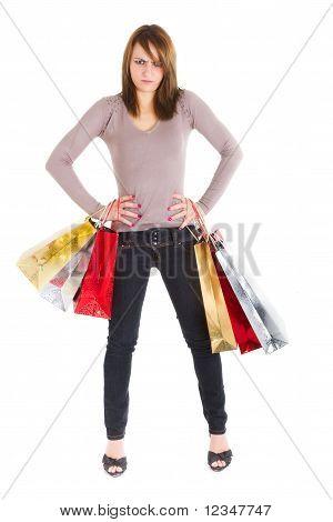 Mulher com raiva de compra