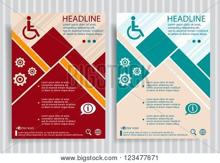 Disabled Handicap  Flat Symbol Modern Flyer