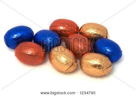 Easter Eggs In Foil