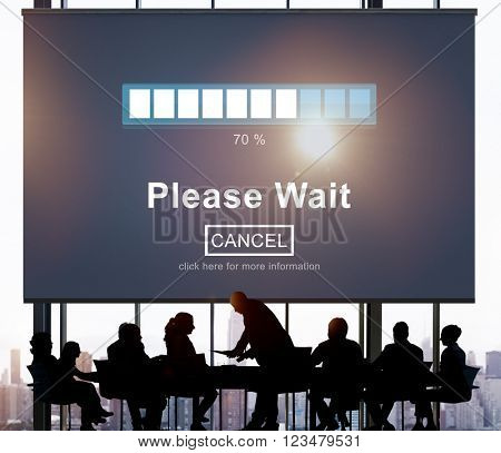 Please Wait Loading Waiting Transfer Anticipation Concept