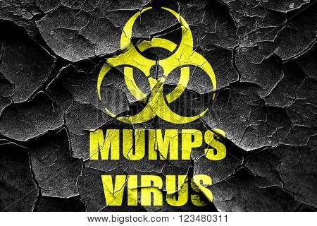 Grunge cracked Mumps virus concept background with some soft smooth lines