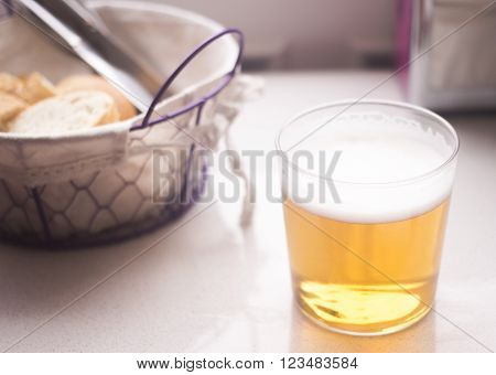 Beer Glass And Bread Basket