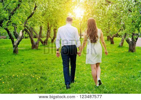 Russia. Moscow. Kolomenskoye Park. May 15, 2014. Loving couple