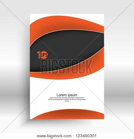 corporate wave bent line elements corporate design. eps10 vector