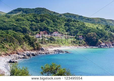 Summer Houses On The Beach Near Vladivostok,  Russia