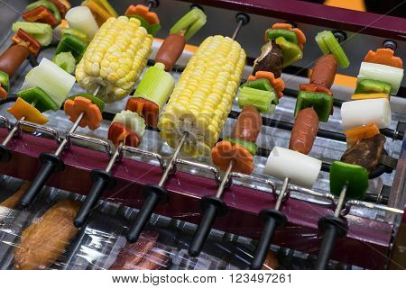 Vegetarian bbq and corncob
