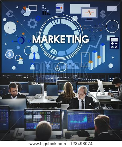 Marketing Business Commercial Strategy Concept