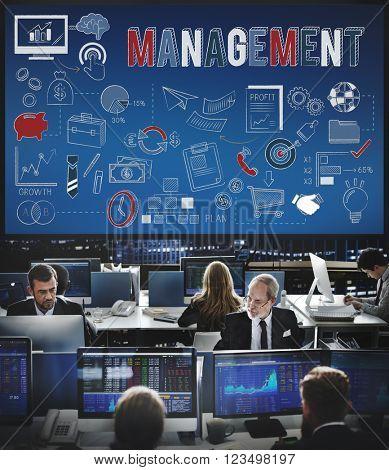 Management Business strategy Coordination Concept