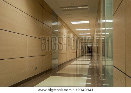 Long beige corridor