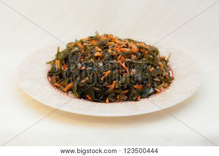 Seaweed Salad With Carrots And Onions - Seafood In Russian Far Eastern  Cuisine