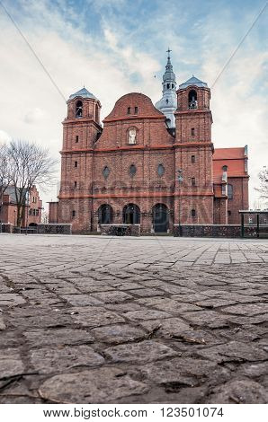 Church of St. Anne in Nikiszowiec district - historic coal miners settlement in Katowice Poland