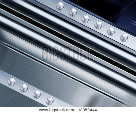 metal texture in perspective for background with rivets