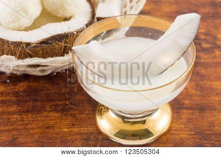 Coconut Liqueur In Glass